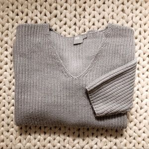 ASOS Maternity Chunky Gray V Neck Sweaters
